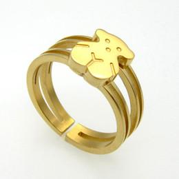 Anillos de oso de alta pulido 316L de acero inoxidable chapado en oro anillos de manguito para hombres y mujeres SR00765 desde alto acero inoxidable pulido proveedores