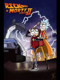 Wholesale 24X36 INCH ART SILK POSTER Rick And Morty Crazy Funny USA HOT Carton TV