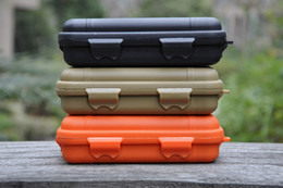 Tactical Shockproof waterproof sealed Pressure-proof boxes Storage survival tool box special use cases Big size 165mm*105mm*55mm