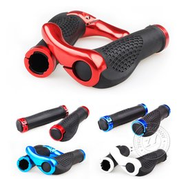 Wholesale Handle Bar New Aluminum Grips Bicycle Mtb Bike Grips Pair Hot Bike Handlebars Components HOT Sports Outdoors