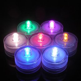 New style Underwater Flicker Flameless LED Tealight Tea Waterproof Candles Light Battery Operated Wedding Birthday Party Xmas Decoration