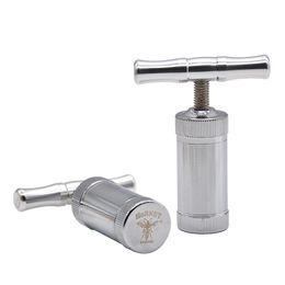 """Retail Wholesale """"HORNET"""" Metal T Shaped Pollen Presser Presser Compressor herb grinder Tobacco Spice Crusher Grinder Hand Muller"""