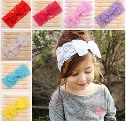 Wholesale Children s lace bow hair band Europe and the United States hot style baby hair new products