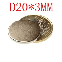 Wholesale 20 d20 mm mm x disc powerful magnet craft neodymium rare earth permanent strong n50 n52