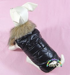 LL011 Dog Down Jackets Winter Clothing For Small Dogs Dog Fur Coat Jacket Parka Cats Clothes Puppy Clothes