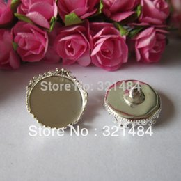 Wholesale X Silver plated mm covers glass vial bottle caps for pendants crafts blank jewelry bezels tray base findings