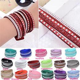 Wholesale Hot Sales Unisex Wristband Bracelets Punk Rivet Charm Chain Fashion Multilayer Wrap PU Leather IX160