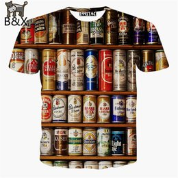 Wholesale New fashion Canned food Printing Abstract t shirt Men Casual d short sleeve t shirt for men s harajuku tee Tshirt