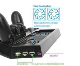 Compra Online Xbox dual-Cargador Dual 3in1 Controlador Vertical Soporte Soporte de Carga Soporte de Enfriamiento Ventilador + 3 HUB USB para Playstation 4 PS4