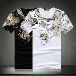 Wholesale Hot selling Men t shirt summer New fashion casual Korea slim short sleeve Tattoo print T shirt summer style men s clothing
