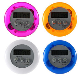 Wholesale Novelty Portable Mini Digital LCD Timer Stop Watch Kitchen Cooking Countdown Up Timer Alarm Clock Kitchen Gadgets Gift Colors Best Price