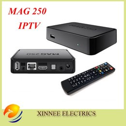Wholesale Best Linux mag250 IPTV box Set Top Box support Wifi usb connector Cable Not include IPTV account mag support update