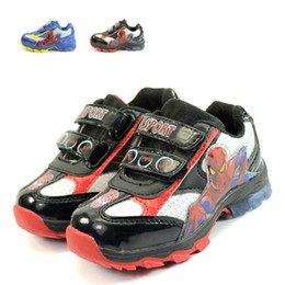 Zapatos para bebés Nuevos coches de moda Light-Up Spiderman Niños Zapatos para bebés Little Kid Cool Sport Iluminación transpirable Corriendo Cute Stride Rite desde fabricantes