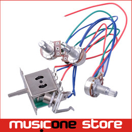 Wiring Harness Prewired 5-way Switch jack 500k Pots for FD Replacement Guitar Free shipping MU1052