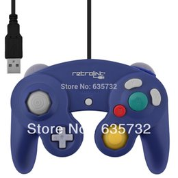 Wholesale-RetroLink Retro-bit USB for Gamecube Controller Gamepad for PC for Mac Purple