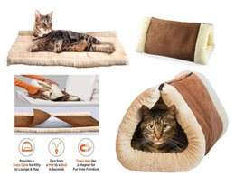 Wholesale Kitty Shack in Tube Cat Mat Bed Dog Pet Accessories Soft Winter Warm Gift With Logo Packing