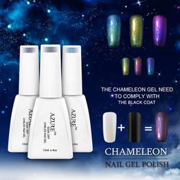 Azure Beauty 12ml 3D Colorful Phantom Nail Gel Polish Chameleon Gel Temperature UV Gel Color Changing Polishes Need UV LED Lamp