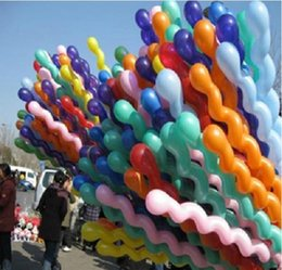 Wholesale Big Discount Screwed Spiral Shape Latex Balloon Party Holiday Wedding Decoration Ballons Colorful