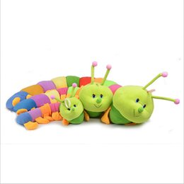 Wholesale Gaga deals price baby toys Colorful caterpillars millennium bug doll plush toys large caterpillar hold pillow doll MYF24