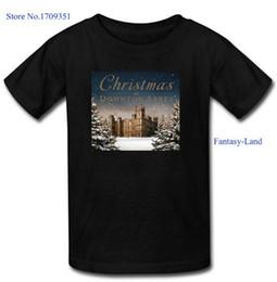 Wholesale Fantasy Land Christmas at Downton Abbey Printed Men s Casual Cotton Short T Shirt