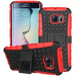 Wholesale Case Cover for Samsung S6 G9200 edge Armor Case Hybrid Kickstand Display Cover Galaxy S6 edge Combo Hard PC Soft TPU Silicone Back