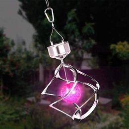 Wholesale 7 Colors Solar Lamps light Lawn Light Rotating By Wind with solar battery LED Night Light for corridor Yard Holiday Party Decor Light
