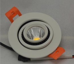 Wholesale COB Led ceiling lights head Rotating adjustable led downlight COB W w Dimmable recessed ceiling lamps V V