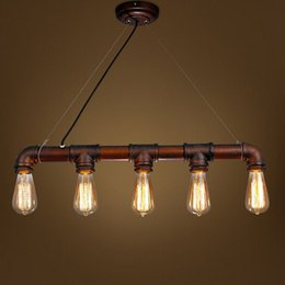 Edison Personalized bar Lighting counter lamps loft style vintage pendant lights water pipe pendant lamps for Warehouse order<$18no track