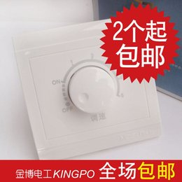 High quality rotating electronic speed switch 86 adjustable switch knob stepless speed controller wall switch