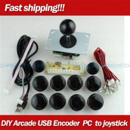 Nueva blanca Arcade bricolaje Accesorios Zero Delay ENCODER + USB de China PULSADORES + China, palanca de mando para MAME Lucha Controles del palillo desde blanco xbox palanca de mando proveedores