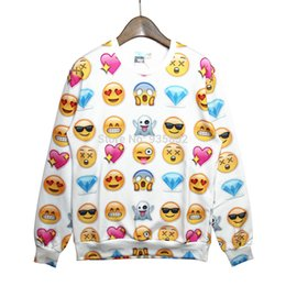New Fashion EMOJI Sweater for Women Men Network Expression Print Sweatshirt Funny 3D Hoodies Lovely Cute Cartoon Clothes