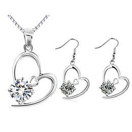 Wholesale 2015 Rushed Garden De Jardin Graceful Porcelain Exquisite True Love Necklace Drop Earrings imitation Platinum Plated jewelry Set g009