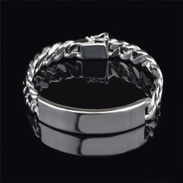 Fashion Men's Jewelry 11MM 925 Sterling silver plated Figaro chain bracelet Top quality free shipping