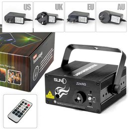 Wholesale Suny RG Mini Lens Patterns LED Laser Projector Stage Lighting Effect Remote W Blue For DJ Disco Party Club Laser