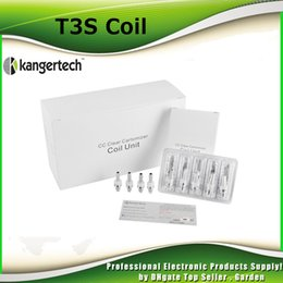 Wholesale Original Kangertech T3S Coil Authentic kanger MT3S T2 ohm ohm ohm ohm Replacement Coils Head In Stock Genuine