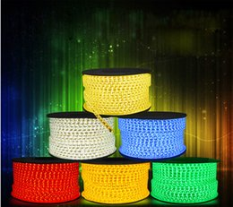 New Products 100M Epistar Waterproof 3528 SMD 60led 110V 220V LED Strips LED Flashing Lights with Power plug IP67 High Voltage by Fedex