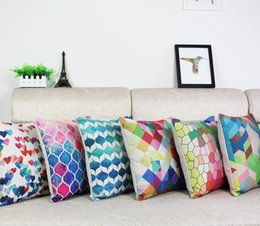 Wholesale Geometry pillow cover Simple IKEA Stripe Geometric abstraction cartoon throw pillow case pillowcase