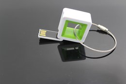Wholesale Square USB Flash Drives USB2 Plastic USB Flash Drives four colors