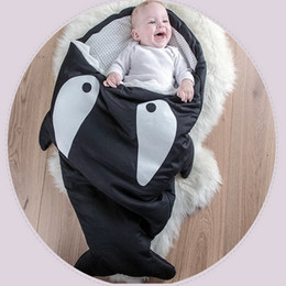 Wholesale Cute Cartoon Shark Baby Sleeping Bag Winter Baby Sleep Sack Warm Baby Blanket Warm Swaddle