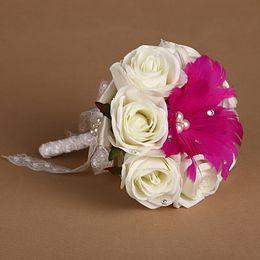 Rose Red Little Beautiful 2016 Bridal Bouquet De Mariage Artificial Wedding Flowers Bridesmaids Bouquets New Arrivals Wholesale