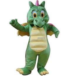 Wholesale Fancytrader Classical Premium Top Quality Real Pictures Deluxe Dinosaur Mascot Costume Halloween Mascot Costume FT30872