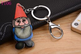 2016 Santa Claus Silicon Key Caps Covers Keys Keychain Case Shell Novelty Item Key Accessories Car Keychain Ring Y106