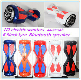 Smart Balance Wheel with Bumper Strip Two Wheel Self Balancing Electric Scooter 4400mah Battery 6 Color Fast Stable Fedex Shipping