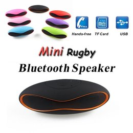 Wholesale Mini X6U X6 Rugby Football Stereo Speaker Subwoofers Mini Portable Soccer Wireless Bluetooth V3 Speakers Free DHL