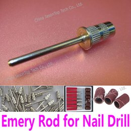 Wholesale mm Emery Rod Electric Nail Drill Shank for mm Sanding Bands Bore Drum Diameter Manicure Pedicure Tool Accessory Abrasive