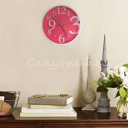 Modern Design 3 colors Lovely Sweet Large Circular Quartz Round Wall Clock for Home Kitchen Bedroom Office Living Room Study