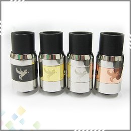 Wholesale Huge Vapor Dark Horse Rebuildable Atomizer RDA Dripping Atomizer mm Clone with thread Stainless Steel Brass Black colors