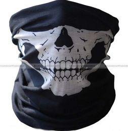 Wholesale-Shanghaimagicbox 1pc Motorcycle Bike Sport Tubular Sealmess Skull Face Headwear Mask Bandana Scarf 51314301