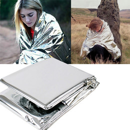 Wholesale New Brand Water Proof Emergency Survival Rescue Blanket Foil Thermal Space First Aid Sliver Rescue Curtain Outdoor