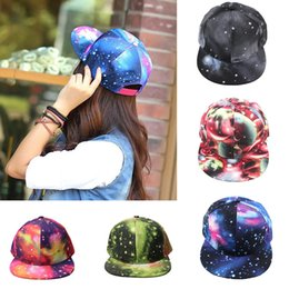 Wholesale 2015 Brand New Galaxy Pattern Space Print Snapback Style Women Men Hats Unisex Fashion Baseball Hip Hop Cap Retail H3145